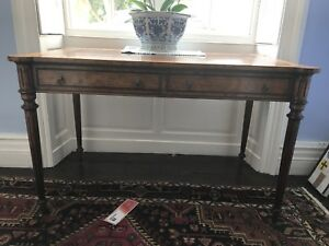 Walnut table/desk with 2 drawers