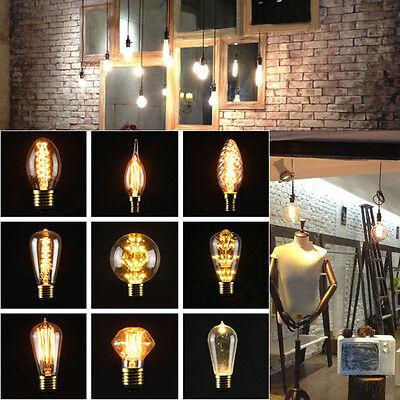 Vintage Lampadina LED Edison E27/E14S 3/5/40W Luce Calda Lampada Filament Bulb