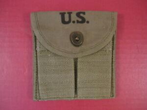 Generic WWII US M1 Carbine Buttstock Type Canvas Ammunition Magazine Pouch Color