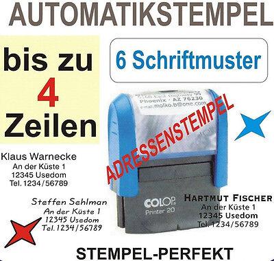 AUTOMATIKSTEMPEL BÜROSTEMPEL ADRESSENSTEMPEL FIRMENSTEMPEL STEMPEL für 5 Zeilen