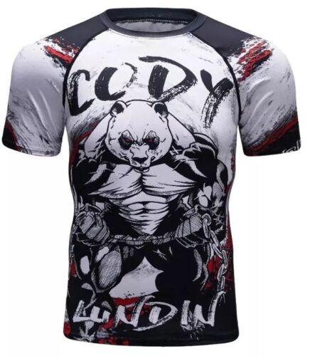 Compression Rashguard MMA Cycling Shirt Panda Gorilla Shirt XL Large Medium Men