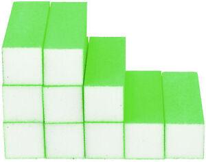 10x Schleifblock / Buffer Neon Grün - Nagelfeilen Set Nagel Polierblock Buffer