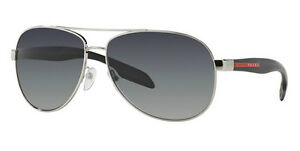 b36660f5ea Image is loading POLARIZED-New-PRADA-Benbow-Aviator-Pilot-Metal-Sunglasses-