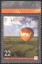 Latvia 2007 Hot Air Balloon/Mobile Communications/Aviation/Transport 1v (n29362)