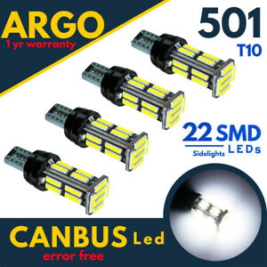 501-Led-T10-W5W-22-Smd-Xenon-White-Car-Wedge-Side-Light-Bulbs-12v-Hid-Canbus