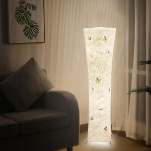 Details about Warm White Modern Standard Lamp Fabric Lighting Floor Lamps  Living Room Bedroom