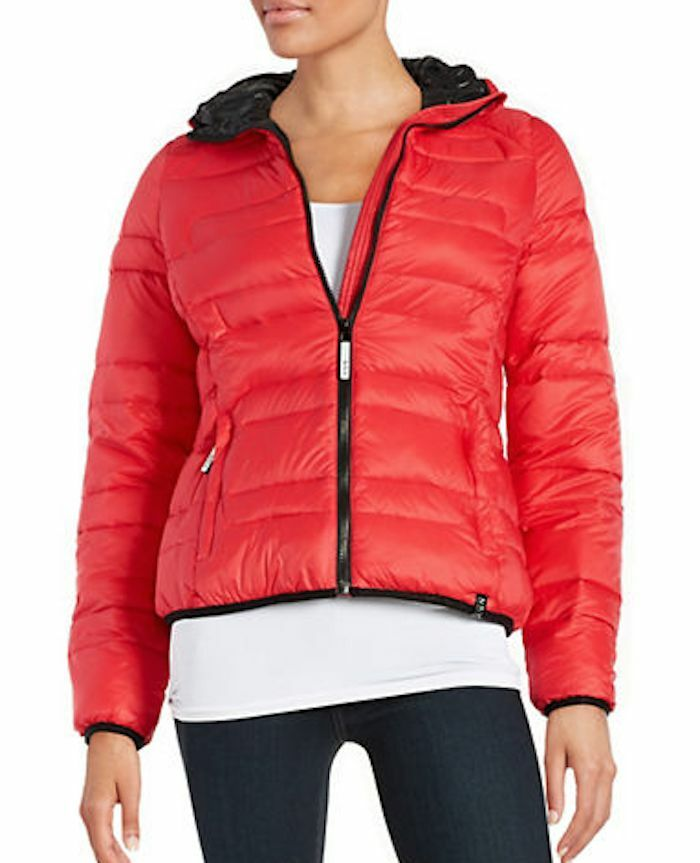 NEW MARC NEW YORK HOODIE PUFFER COAT SIZE S RED