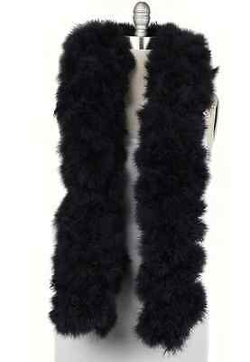 "SWAN FEATHER BOA - BLACK 12""-14"" In Diameter 2 Yards(Halloween/Bridal/Costume)"