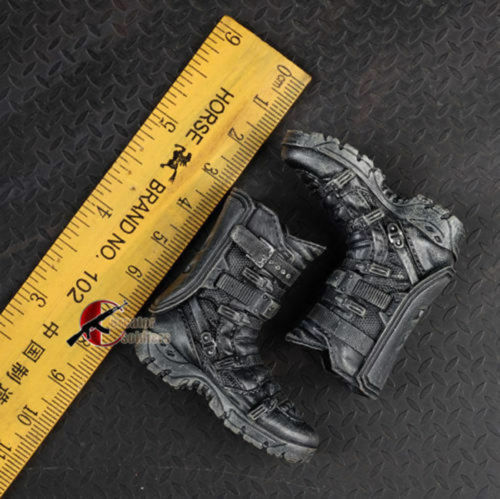 Black Male Shoes Ankle-length Boot Model 1//6 scale Action Figure Accessories