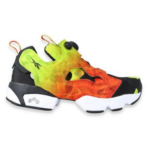 REEBOK-INSTAPUMP-FURY-OG-Presque-comme-neuf-orange-vert-fv1576-Chaussures