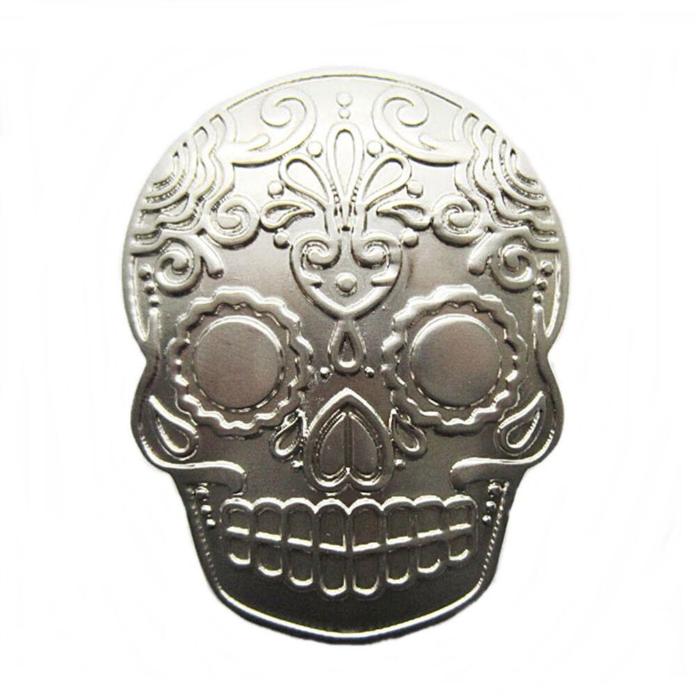 Gürtelschnalle Buckle Gürtelschließe für Wechselgürtel Tattoo Skull Totenkopf SI