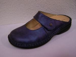 Finn Comfort Stanford blau metallic incl. Baumwoll Schuhbeutel Wechselfußbett!