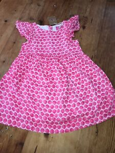 JOULES-Emeline-Party-Dress-Age-5-6-7-amp-11-12-Neon-Pink-Rose-Spot-FreeUKP-amp-P