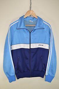 1970 blue adidas tracksuit top uomo's