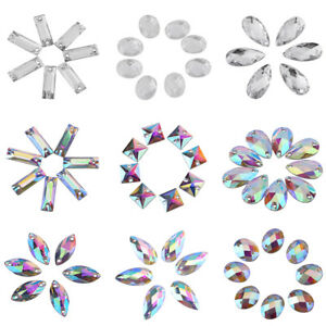 200pcs-AB-Clear-Gems-Acrylic-Sew-On-Rhinestones-Faceted-Flatback-Crystal-Buttons