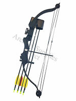 Asd Archery 20lbs Youth - Child - Kids Black Compound Bow & Arrows Set