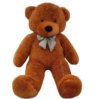 Cheap Giant 80cm Big Cute Deep Brown Plush Teddy Bear Huge Soft 100% Cotton Toy