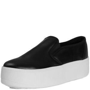 Womens-Flat-Platform-Flatform-Chunky-Sneakers-Slip-On-Trainers-Loafer-Shoes