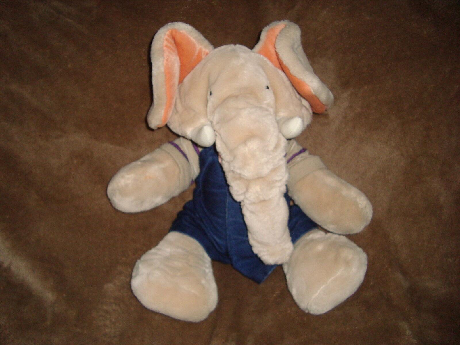 Wrinkles Elephant Full Body Hand Puppet Boy Trunkit Vintage 1985 Plush 17