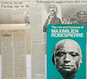 NORMAN-HAMPSON-MAXIMILIEN-ROBESPIERRE-1ST-1-H-B-1974-PLUS-NEWS-CUTS-LIFE-OPINION