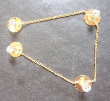 Indian Gold Plated 4 Buttons Attach Chain Punjabi Kurta Fitting Pakistani Set d