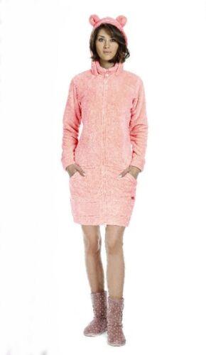 Calda Vestaglia Giacchino Donna Ragazza Morbido Coral Fleece S M L Rosa Corallo