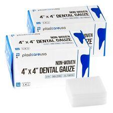 400 4x4 Non Woven Sponges 4 Ply Non Sterile Cotton Dental Gauze Pads 2 Packs
