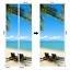 3D Wall Art Sand Beach Waterfall Door Sticker PVC Decal Self-adhesive Wrap Mural