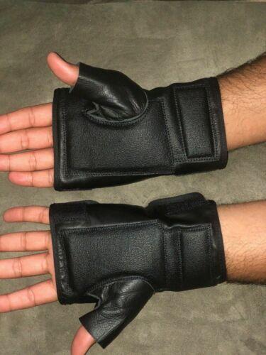 Wheelchair Push Gloves Wheelchair Cuff Glove Cowhide Leather Wheelchair Gloves