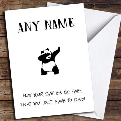 Funny Panda Dab Personalised Birthday Card