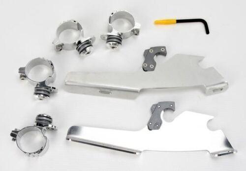 Fats//Slim Windshields//Batwing Shades Polished MEM8967 Trigger-Lock Mount Kit
