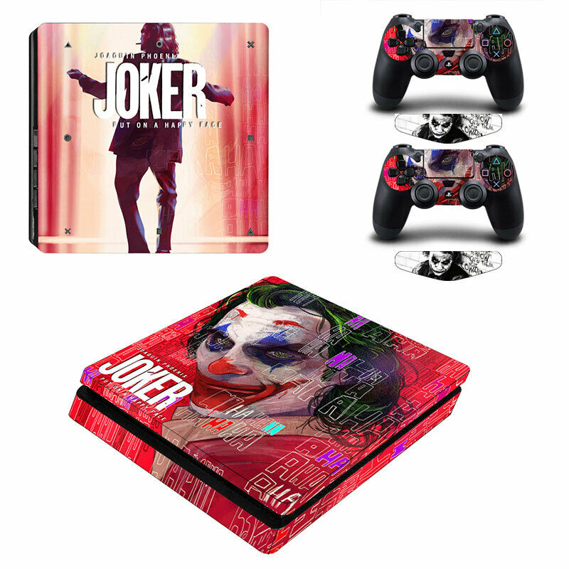 The Joker Vinyl Decal Skin Stickers Full Set for PS4 Slim Console Controllers