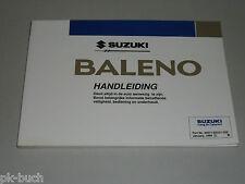 Betriebsanleitung Handleiding Suzuki Baleno Stand 01/1996