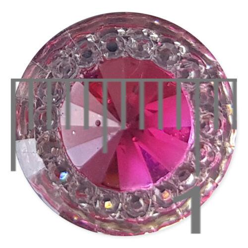 10pcs Starry Round Acrylic Gem Crystal Flatback Craft Embellishments Cabochons