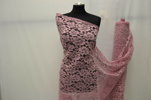 ROSE /& HUBBLE Glitter Corded Lace Fabric material Bridal Wedding Flower Girl