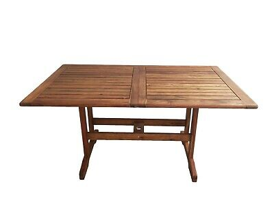 Tavolo In Legno Acacia Estensibile Esterno Rettangolare Tommaso 150 200x90x73 Ebay