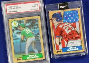 MARK-McGWIRE-lot-1987-Topps-Rookie-Card-PSA-9-Mint-amp-Topps-Project-2020-Blake