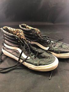 f01b7a1317 RARE🔥 Vans Sk8-Hi Reissue Premium Leather Black Distressed Women s ...