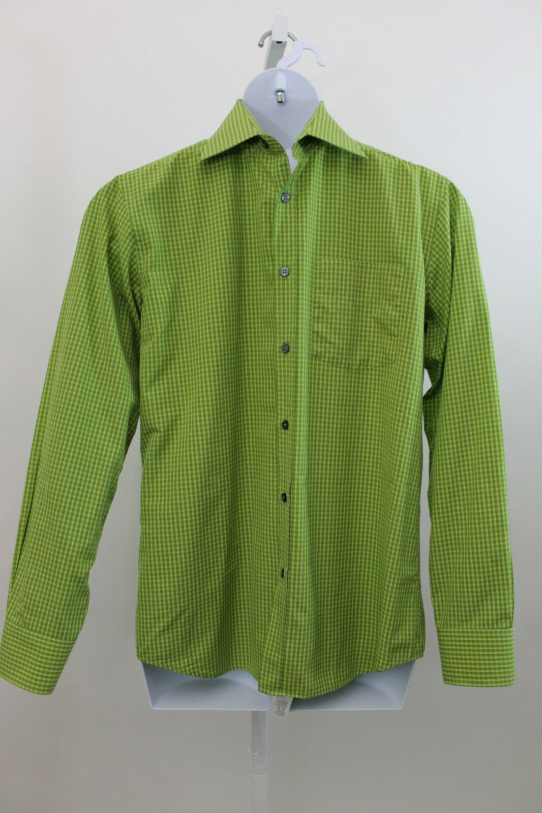 Paul Smith London verde Quadrettato 100% Cotton Camicia 15 1 2 39 (