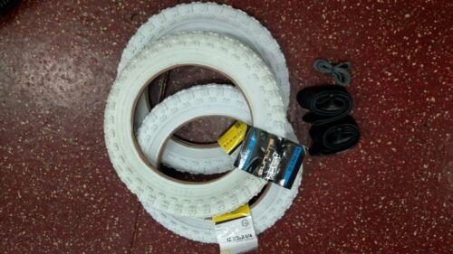3 Tires/&Tubes 2.25 Bike Stroller White Tire Set 12 1//2 x 2 1//4 12 x 2.125