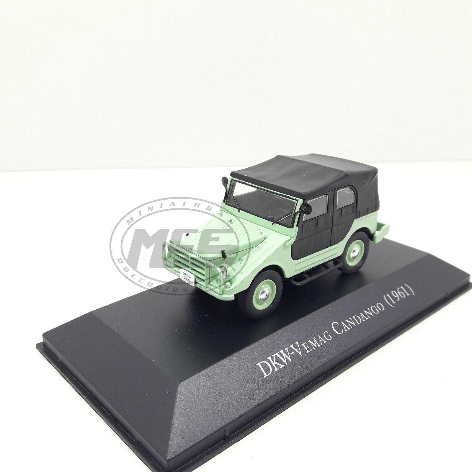 1 43 43 43 DKW-VEMAG CANDANGO 1961 verde NEGRO ALTAYA COLECCIóN BRASIL 94e0aa