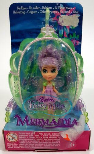 ® MATTEL BARBIE FAIRYTOPIA MERMAIDIA DOLL Necklace Fée Bijoux Lavender ko544 NEUF!