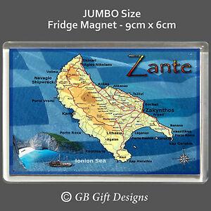Zante map greek island jumbo fridge magnet flag greece holiday image is loading zante map greek island jumbo fridge magnet flag gumiabroncs Choice Image