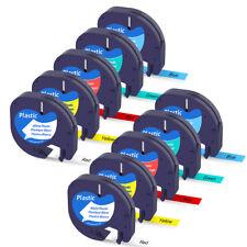 10pcs 91331 91332 Plastic Tape Compatible Dymo Letratag Label Maker Lt 100h