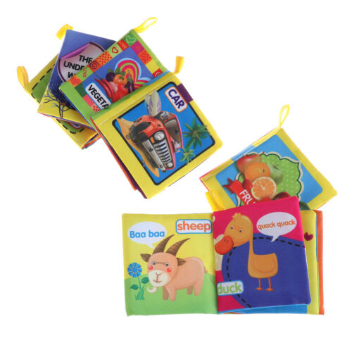 Newborn 0-3 Years Infant Fabric Cloth Books Educational Baby Toys  new.