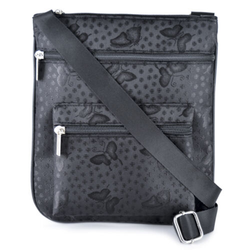 Ladies Womens Satchel Cross Body Bag Messenger Handbag Small Shoulder Bag Zipped