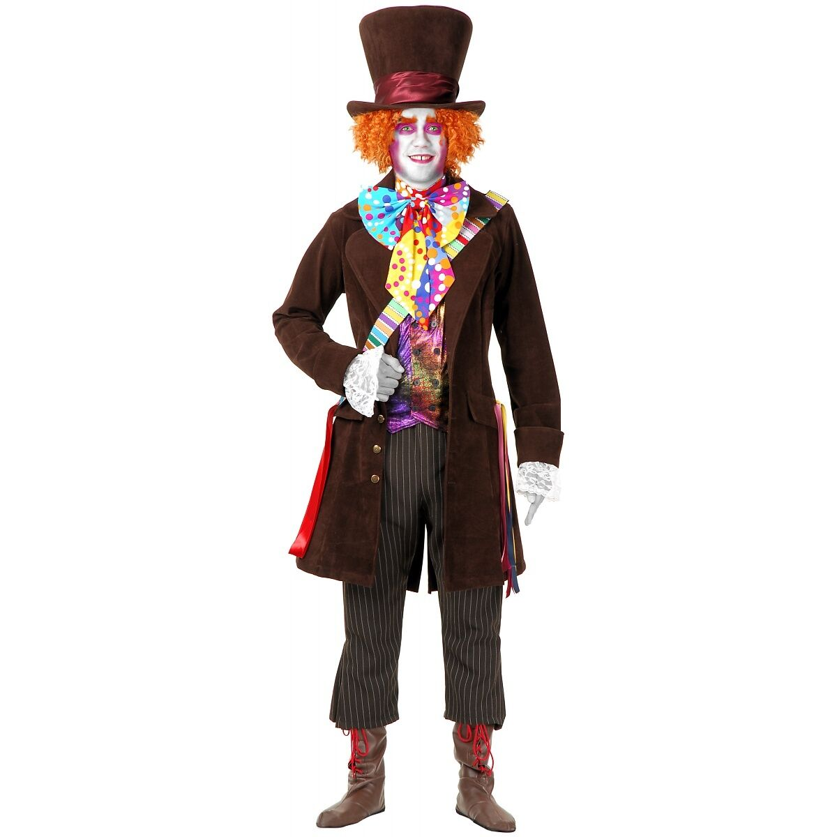 Electric Mad Hatter Adult Alice in Wonderland Halloween Costume