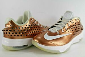 281fd8c76671bb Nike KD Kevin Durant VII 7 Elite Limited EYBL Metallic Copper Bronze ...