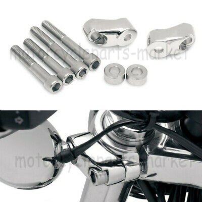 Gloss Black 49mm Front Turn Signal Relocation Kit for Harley FXD Dyna 06-17