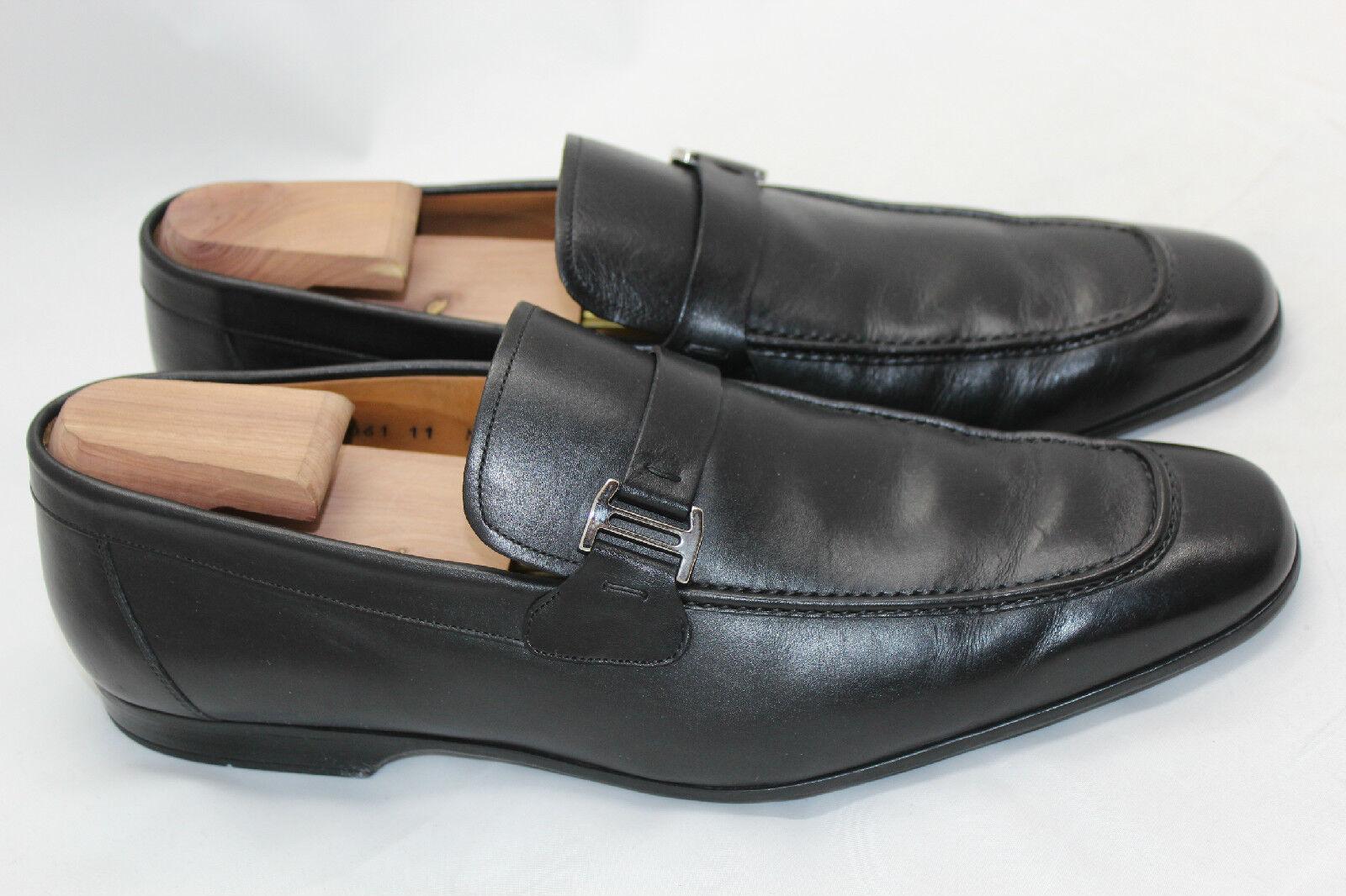 Para Hombre Zapato Mocasín Magnanni 'Lino' Slip On-Negro M - 15061 (Q10)